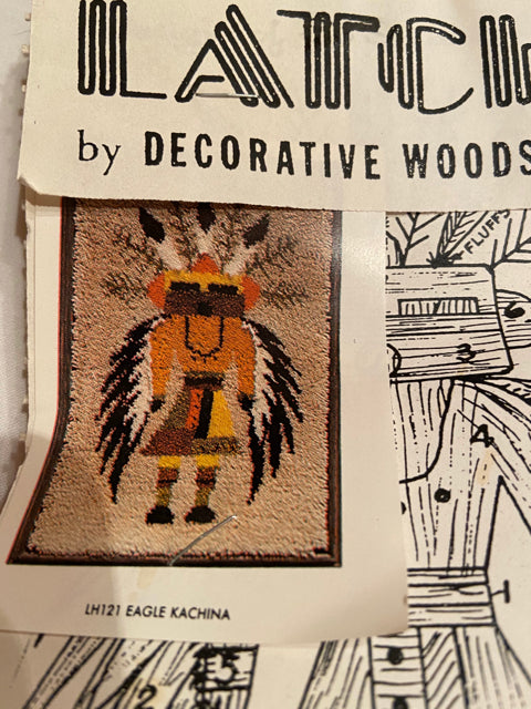 Latch Hook Rug Canvas Only Decortive Woods Inc Eagle Kachina 22x34