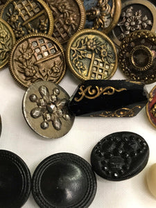 Antique Buttons late 1800's-early 1900's Lot some Victorian