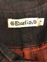 Load image into Gallery viewer, Blue Fish Size 1 Cotton Denim Block print Coat