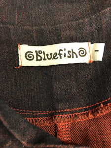 Blue Fish Size 1 Cotton Denim Block print Coat