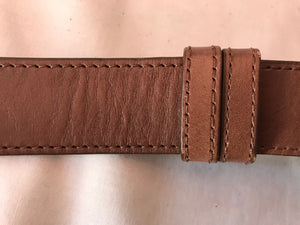 Coldwater Creek S/M Brown Leather Hip Belt