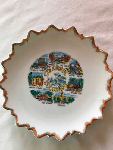 Colorful Colorado Souvenir Plate Ceramic