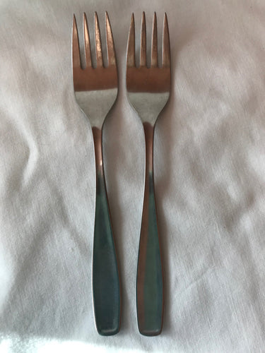 Cromargan Germany Stainless Salad Forks Set 2