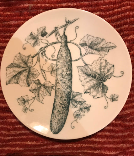 Cucumber Salad Plate Bareuther Bavaria Germany