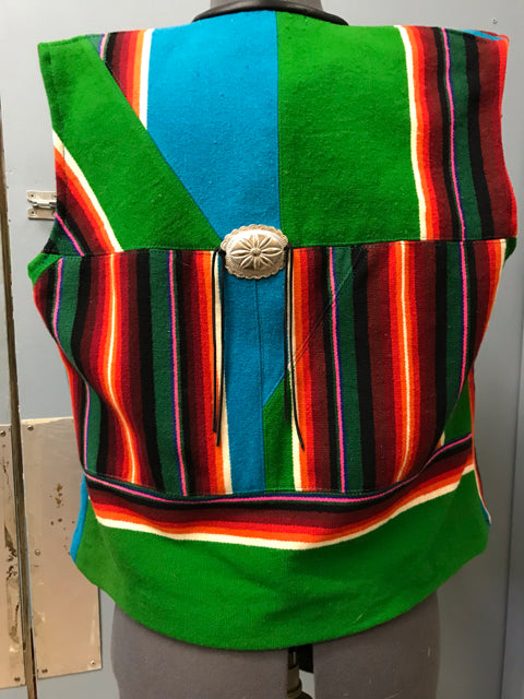 Custom made by Suzanne Heald Blanket Vest