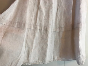 Flax Linen M Long Flared Skirt