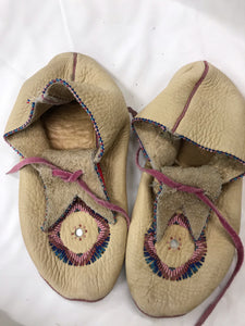 Moccasins Leather Seed Beading