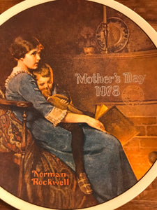 Mother's Day 1978 Norman Rockwell Knowles Plate