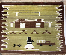 Load image into Gallery viewer, Navajo Pictorial Weaving Rug 1940's