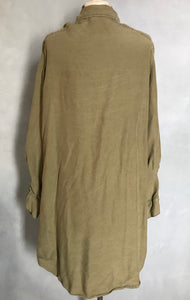 Philosophy Army Green Tencel Chambray Shirt Dress XL