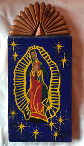 Retablo Virgin Mary of Guadalupe Taos NM
