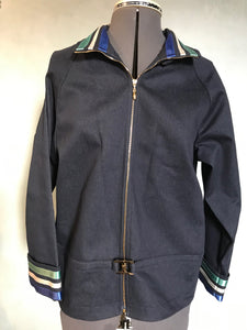 St John Sport Marie Gray Navy Cotton Blend P Jacket