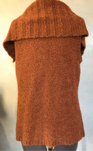 Load image into Gallery viewer, Sundance Sweater Vest M Rust Snap Front Oversize Collar