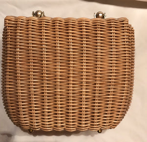 Vintage Dayne Taylor Wicker Rattan Purse Handbag Hong Kong