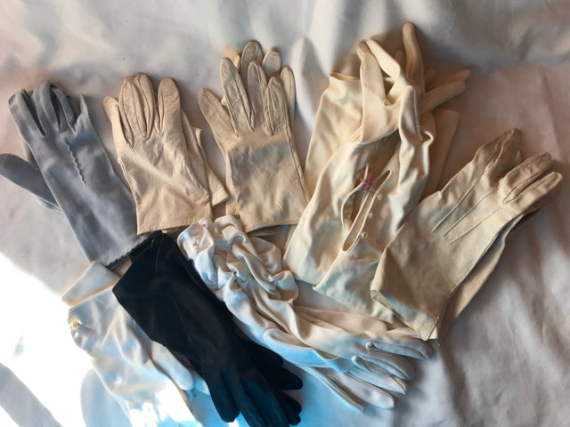Vintage Gloves Lot of 8 Pairs