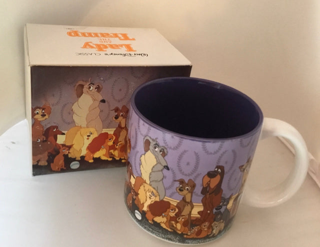 Walt Disney Lady and the Tramp Mug Japan Collectible