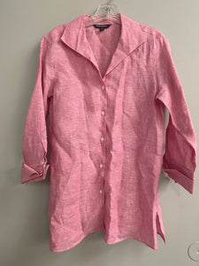 Brooks Brothers Womens Sz 8 Irish Linen  Shirt