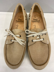 Finn Comfort Tan Leather Deck Shoes Mens Size 8 New