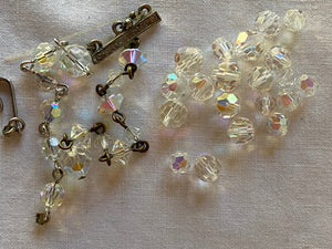 Vintage Clear Crystal Swarovski & Other Crystal Beads Assorted Lot #18