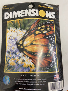 Dimensions 7203 Butterfly Drama Needlepoint Kit NIP