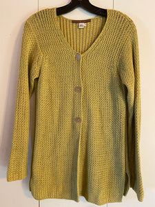 Peruvian Connection Size S Knit Cardigan Pima Cotton