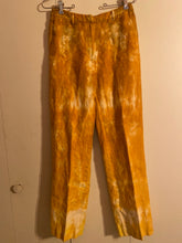 Load image into Gallery viewer, Trousers Etc Sz 4 Orange Dyed Linen Lined Pants