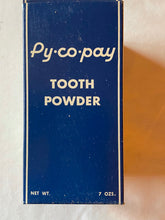 Load image into Gallery viewer, Vintage Py-Co-Pay Tooth Powder 7 oz Bottle Boxed