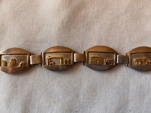 Sterling and 14K Gold Storyteller Linked Bracelet
