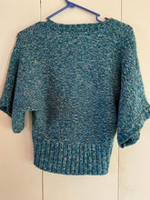 Load image into Gallery viewer, Twist of Faith Acrylic Size Medium Short Cardigan Teals
