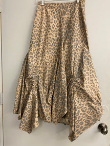 L Hanna for La Journee Ruched Lagenlook Skirt Size 1