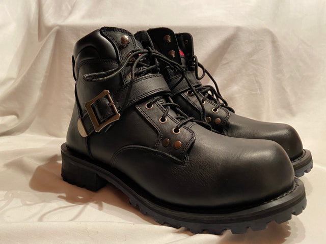 Z1R Trekker Mens  Boots Black Leather NIB Motorcycle Motocross