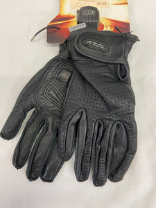 Fly Men's M Riding Gloves Black Leather Rumble Glove Perf NWT