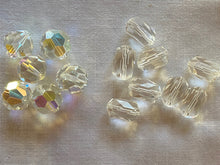 Load image into Gallery viewer, Vintage Clear Crystal Swarovski & Other Crystal Beads Assorted Lot #18