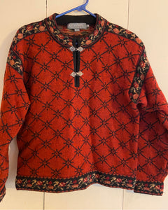 Icelandic Design Women's Sweater 2 Clasps  Wool Size M