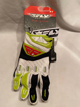 Load image into Gallery viewer, Fly Racing F-16 Gloves Size M-9 New Black Lime BMX Motocross ATV Off Road