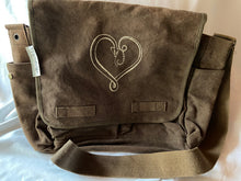 Load image into Gallery viewer, TaosEdge Canvas Messenger Bag Snake Heart by Chipper Thompson NWT