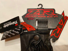 Load image into Gallery viewer, ZIR Black Leather Riding Gloves Womens Sz Med NWT 3301-2854