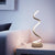 Lampe de bureau spirale SWANSEA design LED salon