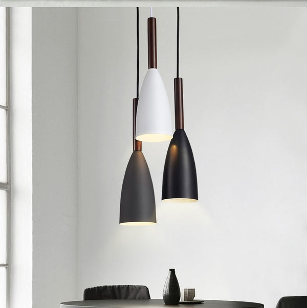Suspension SKARA luminaire industrielle design bois aluminium
