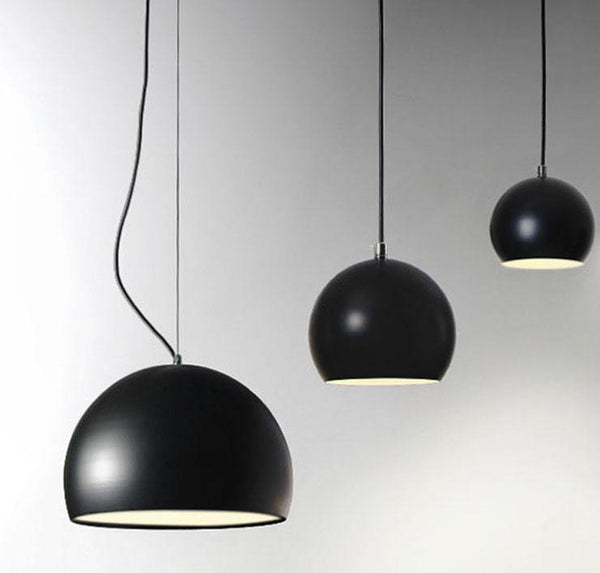 Suspension LUND luminaire industrielle design aluminium noir
