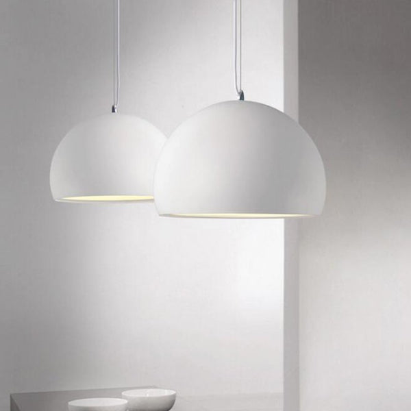 Suspension LUND luminaire industrielle design aluminium blanc