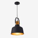 Suspension VARBERG luminaire industrielle design aluminium noir