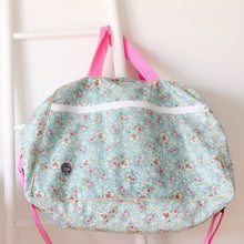 Load image into Gallery viewer, Floral mint Weekend bag