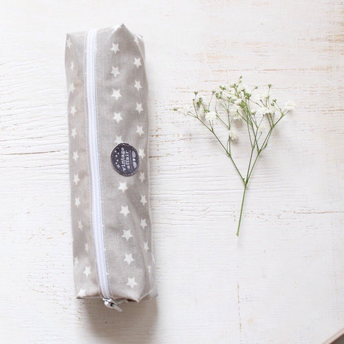 Grey stars pencil case