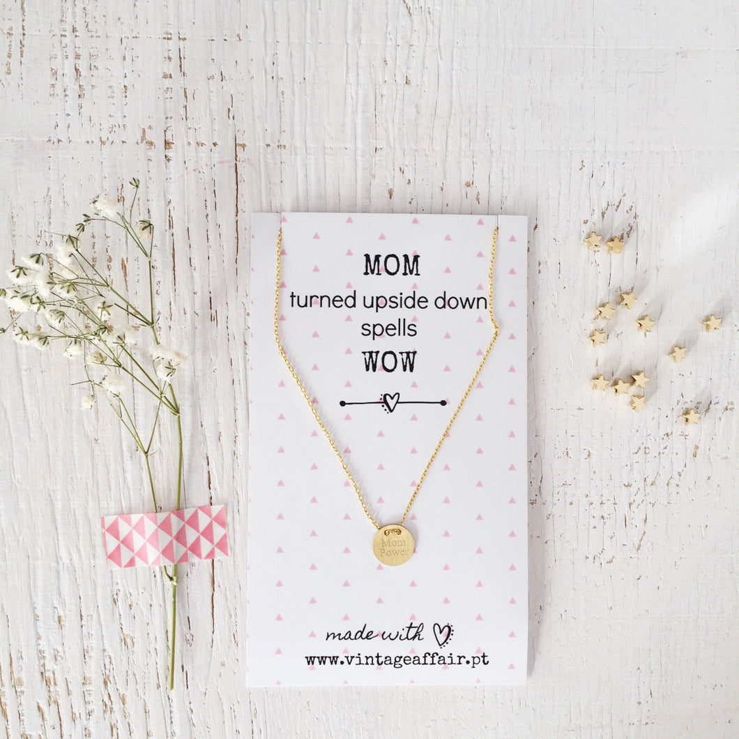 Mom power necklace