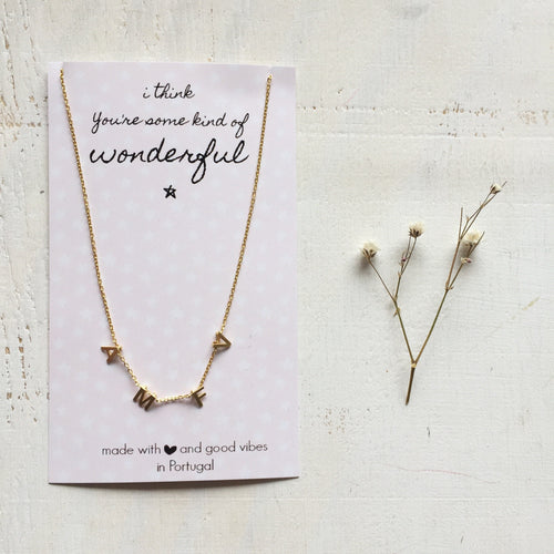 four letters necklace