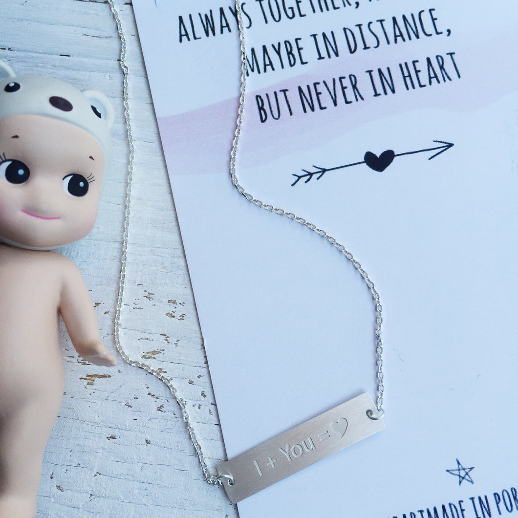 Me & you necklace