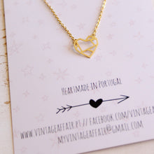 Load image into Gallery viewer, Geometric heart necklace