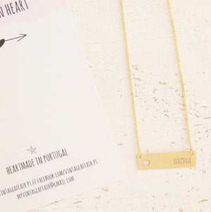 Mom bar necklace