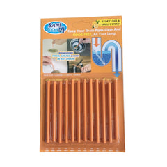 12/Pack Sani Sticks Keeps Drains And Pipes Clear And Odor As Seen On TV